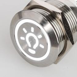 Edelstahl Druckschalter Ø19mm LED Symbol Licht...