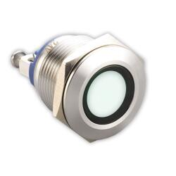 LED-Kontrollleuchte Ø19mm IP67 Edelstahl weiß