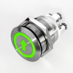 Stainless-steel push-button Ø 19 mm LED symbol...