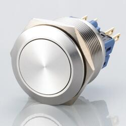 Stainless steel push-button Ø0.99 inch flat