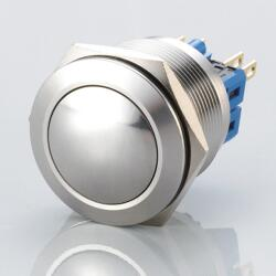 Stainless steel push-button Ø0.99 inch Arched