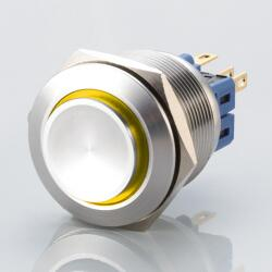Edelstahl Drucktaster Ø25mm Hervorstehend LED Ring...