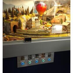Edelstahl Druckschalter Ø19mm Flach LED Ring Weiß 230V