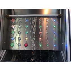 Edelstahl Druckschalter Ø19mm Flach LED Ring Blau...