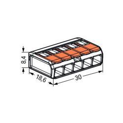 Wago Kompakt Verbindungsklemme 5-Leiter Verbinder mit Hebeln