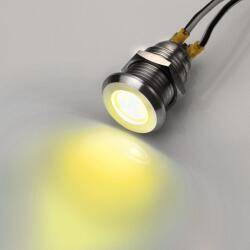 Edelstahl LED Kontroll Leuchte Ø12mm Gelb