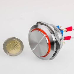 Edelstahl Drucktaster Ø40mm Hervorstehend LED Ring...