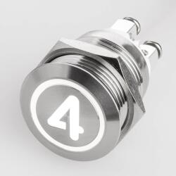Stainless steel push buttons Ø0.75 inch flat LED symbol...